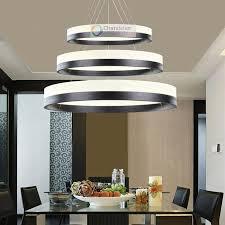 Various Sizes New Modern Rings Pendant Lamp Circles Chandelier Led - Pendant dining room lights