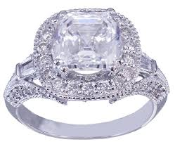 asscher cut diamond engagement rings gia h vs2 18k white gold asscher cut diamond engagement ring