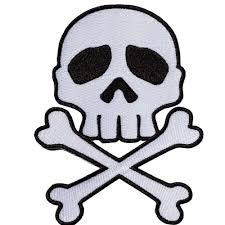skull n crossbones iron on patch by kreepsville 666 kreepsville 666