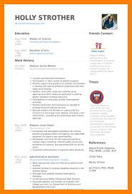 Sample Msw Resume by 11 Social Worker Cv Example Cv For Teaching