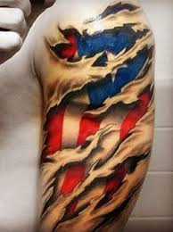 25 beautiful american flag sleeve tattoo ideas on pinterest