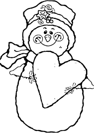 snowman smile love coloring pages coloring pages kids