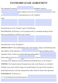 free residential lease agreements u2013 pdf and word templates