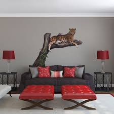 Tree Wall Mural by Giant Leopard In A Tree Wall Sticker For Jungle Scene Mural Creations