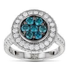 blue fashion rings images Ladies white and blue diamond circle engagement ring 1 65ct 14k jpg