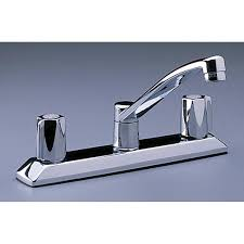 kitchen faucets for less encore wing handle kitchen faucet less spray chrome two handle