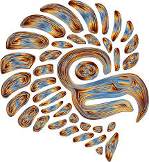clipart prismatic stylized mexican eagle silhouette 9