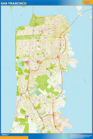 san francisco map of usa san francisco wall map netmaps usa wall maps shop