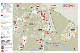Washington University Campus Map by Parking Maps University Of Houston