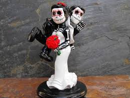 day of the dead wedding cake topper day of the dead skeleton wedding cake topper