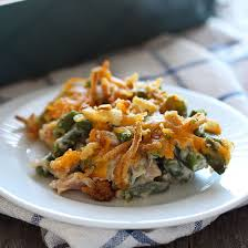 cheesy green bean casserole with bacon handle the heat