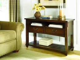 furniture country living room side table with 2 drawers and