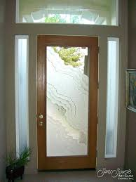 Exterior Entry Doors With Glass Frosted Glass Exterior Door Exterior Grey Stained Fiber Modern