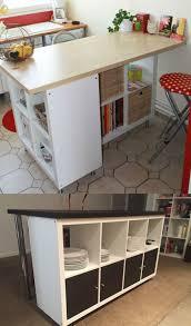 faire un bar de cuisine ikea hack détourner et customiser une étagère kallax