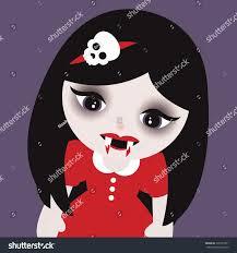 cute kids halloween background cute little vampire girls skull head stock vector 305701991