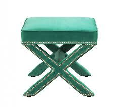 reese green velvet ottoman tov furniture modern manhattan