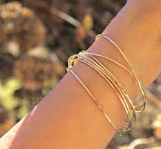 white gold yellow gold bracelet images One solid gold bangle 14k gold bangle thin gold bangle jpg