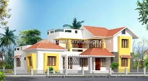 villa design plan and elevation of 2853 sq ft independent villa