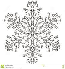 hand drawn antistress snowflake stock vector image 76093482