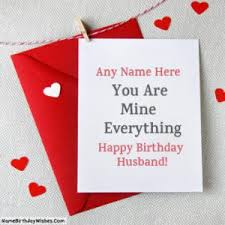 best birthday wishes for husband with name photo