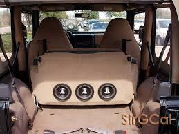 jeep wrangler speaker box jeep tj rear seat subwoofer actual box inside seat archive