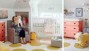 yellow and pink nursery the land of nod