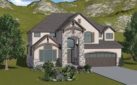 avignon 2 story mountain rustic style house plan walker home