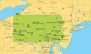 pennsylvania state map cus map and directions penn state dubois
