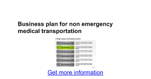 sle business plan halfway house business plan for non emergency medical transportation google docs