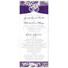 winter wedding programs winter wedding program purple silver white