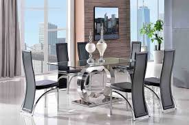 Glass Dining Table 6 Chairs Chair Dining Room Table And Chair Sets Ebay Decor Ideas Chairs