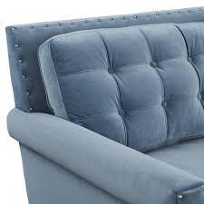 tov furniture jonathan blue velvet sofa s75 at homelement com