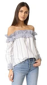 shoulder top factory stripe sleeve shoulder top shopbop