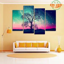 aliexpress com buy new 4 pieces sets canvas art andromeda galaxy