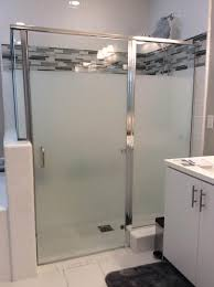 Cover Bathroom Shower Doors With Privacy Frosted Widow Film