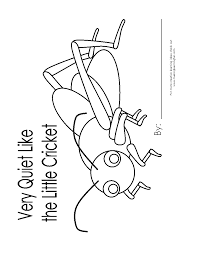 the very quiet cricket coloring page coloring home