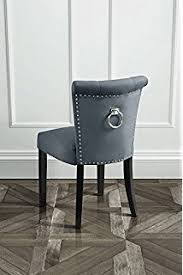 Grey Velvet Dining Chairs Ascot Dining Chair Grey Velvet Amazon Co Uk Kitchen U0026 Home