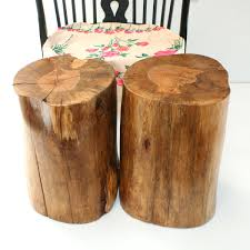 Wood Block Side Table Solid Wood Side Table Natural Wood Stump Side Table 61 Dazzle
