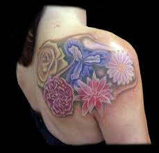 36 best shoulder flower tattoos on back images on pinterest