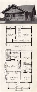 craftsman home floor plans 1918 craftsman bungalow representative california homes