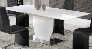dining table in white by global w optional d6671dc chairs