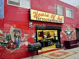 house of ink tattoos and piercing venice beach stock photo