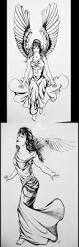 angel tattoo sketches 2 of 5 by psionicbird on deviantart