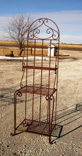 Metal Bakers Rack Wrought Iron Narrow Bakers Rack Foyer Or Dining Room