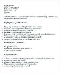 hostess resume responsibilities www hairstylistresume com wp
