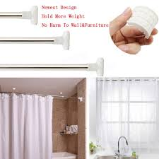 Extendable Rods Curtains Stainless Steel Extendable Shower Curtain Rod Window Curtain Rail
