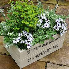 buy a personalised wooden apple crate planter gift