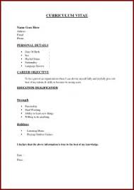 One Job Resume Examples Of Resumes 93 Captivating Sample Resume Formats Format