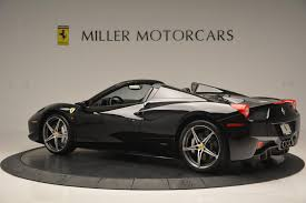 ferrari dealership inside 2012 ferrari 458 spider stock f1720a for sale near greenwich ct