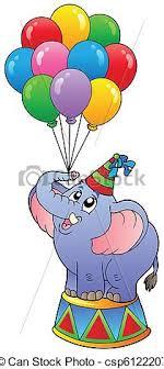 circus balloon circus elephant with balloons 1 vector illustration vectors